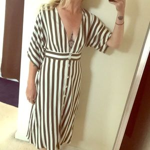 Pretty striped plunge dress